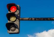 Semafor cu buton pe strada Depozitelor