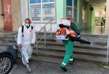 SEdC Mioveni desfășoară acțiuni de curățenie și dezinfecție la nivelul întregului oraș