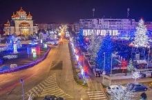 S-au aprins luminile festive la Mioveni