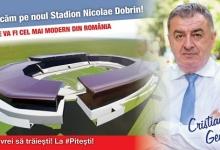 Cristian Gentea: Noul stadion al Piteştiului va fi o bijuterie în palmaresul arenelor naţionale