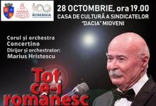 Tudor Gheorghe, concert extraordinar în MioveniTudor Gheorghe, concert extraordinar în Mioveni