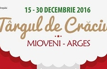 Târgul de Crăciun de la Mioveni se va deschide pe 15 decembrie